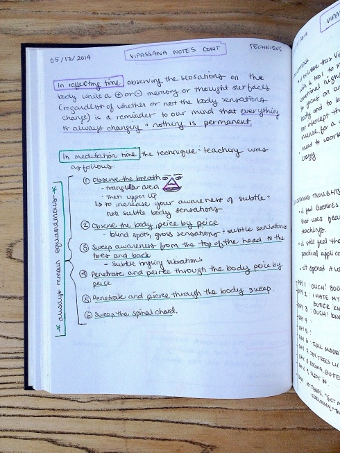 Vipassana Notes Page 2