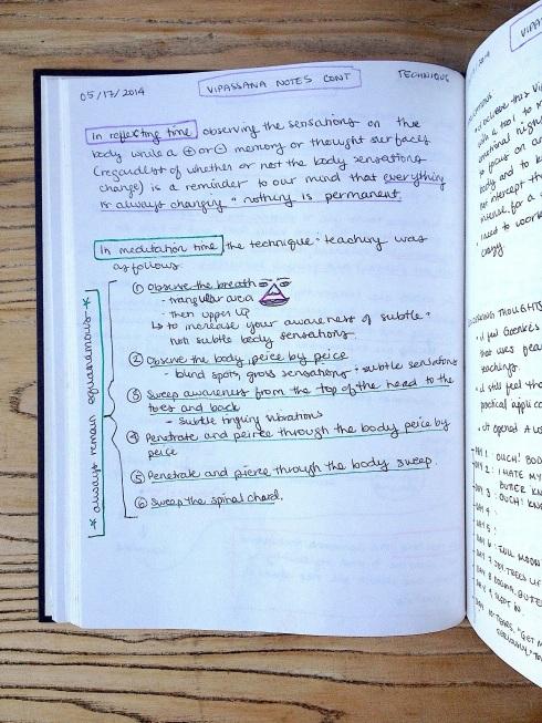 Vipassana Notes Page 2