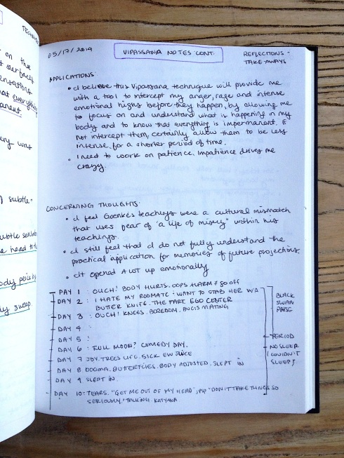 Vipassana Notes Page 3